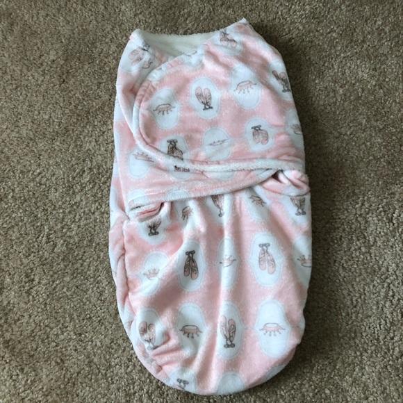 Blankets and Beyond Other - Baby Girl Fleece Swaddle Blanket